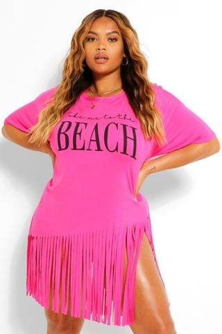 WOMEN Plus Tassel Beach Dress