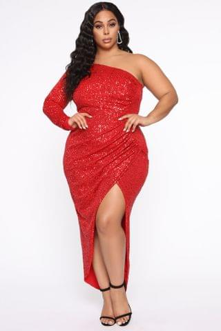 WOMEN And The Winner Is Sequin Maxi Dress - Red