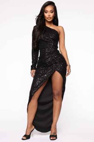 WOMEN And The Winner Is Sequin Maxi Dress - Black