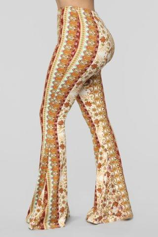WOMEN Sweet Surprise Printed Flare Pant - MultiColor