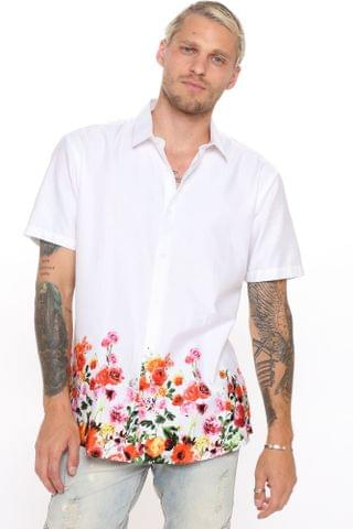 MEN Sorrel Short Sleeve Woven Top - White/Combo