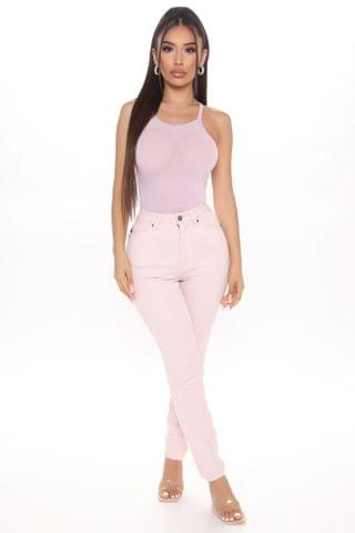 WOMEN Practically Perfect Pastel Skinny Jeans - Pink