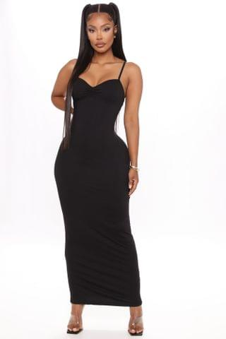 WOMEN Feel Your Best Ruched Maxi Dress - Black