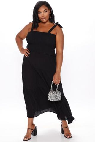 WOMEN Easy Days Tiered Maxi Dress - Black
