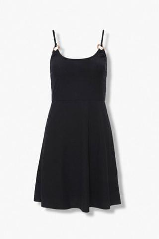 WOMEN Ribbed Knit Skater Dress