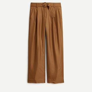 WOMEN Collection high-rise silk-twill trouser