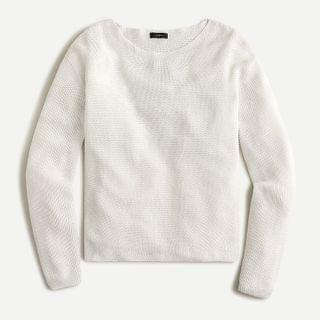 WOMEN Boatneck beach sweater in linen