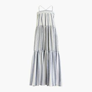 WOMEN Chambray cover-up dress in stripe