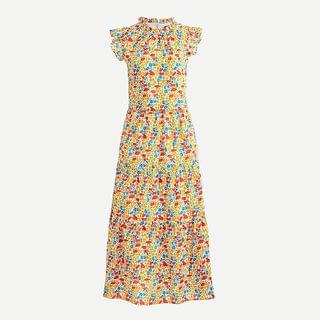 WOMEN Tiered dress in Liberty poppy and daisy print