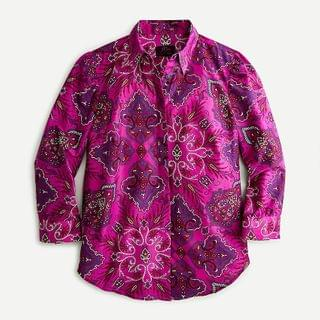 WOMEN Puff-sleeve cotton-poplin shirt in Liberty Lady Paisley