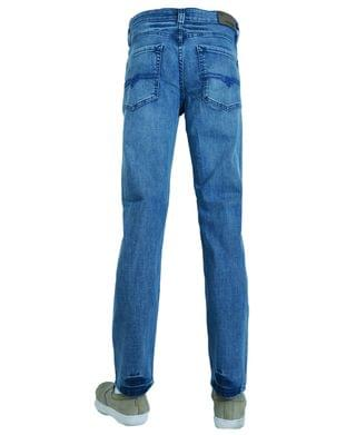 MEN Men's Fashion Slim Tapered Jeans Denim
