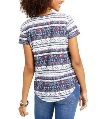 WOMEN Petite American Picnic Mixed-Print Top, Created for Macy's