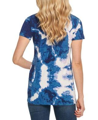WOMEN V-Neck Tie-Dyed T-Shirt