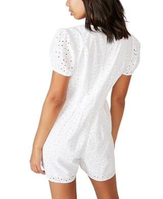 WOMEN Woven Claudia Short Sleeve Playsuit