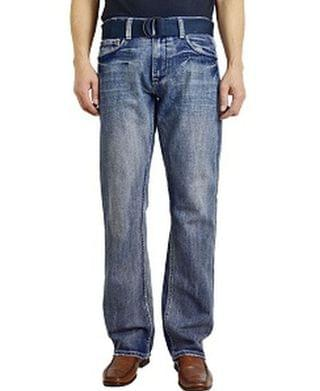 MEN Men's Fashion Regular Fit Straight Leg Jeans