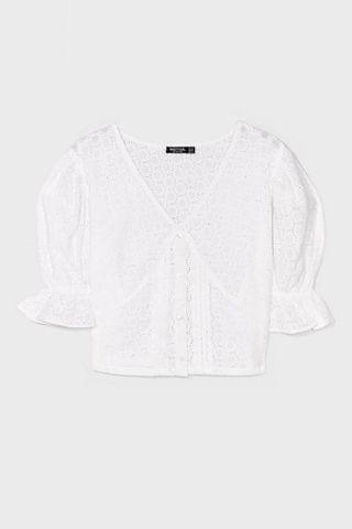 WOMEN Love Story Broderie Anglaise Crop Top