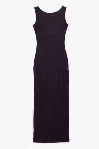 WOMEN Don't Look Scoop Back Ribbed Maxi Dress