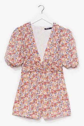 WOMEN floral puff sleeve playsuit