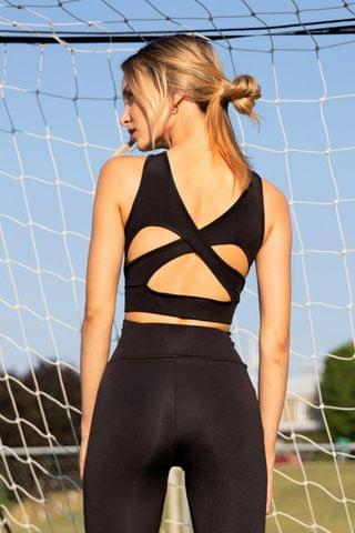 WOMEN Here We Go Again Cut-Out Workout Crop Top