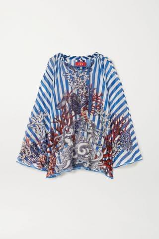 WOMEN F.R.S FOR RESTLESS SLEEPERS Ofione printed cotton and silk-blend poncho