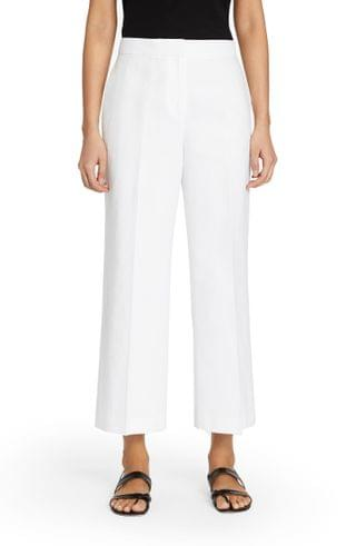 WOMEN Lafayette 148 New York Dalton Cotton & Linen Crop Wide Leg Pants