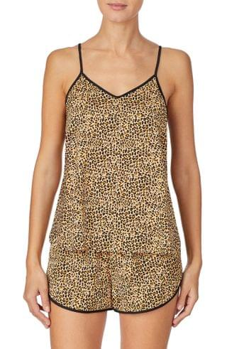 WOMEN ROOM SERVICE Animal Print Camisole Pajamas