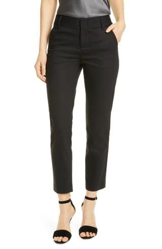 WOMEN Alice + Olivia Stacey Slim Stretch Cotton Blend Trousers