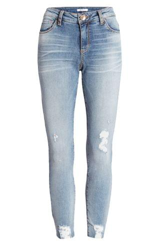 WOMEN STS Blue Caroline Ripped High Waist Straight Leg Jeans (Center Beach)