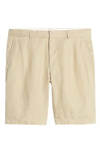 MEN Vince James Classic Slim Leg Hemp Shorts