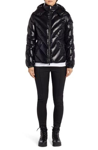 WOMEN Moncler Brouel Water Resistant Lacquered Down Puffer Coat