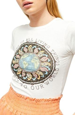 WOMEN BDG Urban Outfitters Protect Our World Graphic Baby Tee