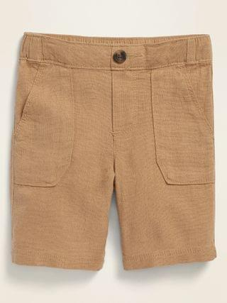 KIDS Linen-Blend Shorts for Toddler Boys