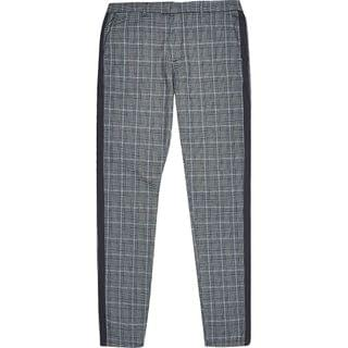 MEN Grey check tape side skinny trousers
