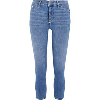 WOMEN Blue cropped Molly mid rise jeggings