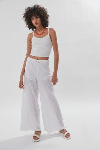 WOMEN House Of Sunny Aarons Embroidered Wide Leg Pant