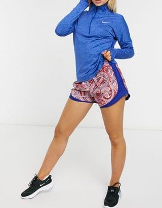 WOMEN Nike Running tempo shorts in red paisley