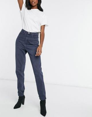 WOMEN Missguided tall riot high waisted mom jeans in blue