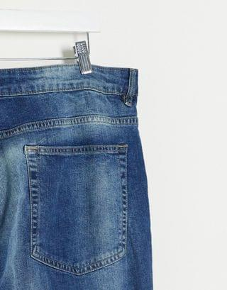 New Look PLUS slim jeans in washed blue