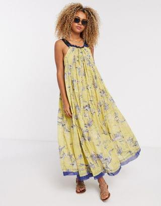 WOMEN Free People Tropical Toil maxi dress in yellow