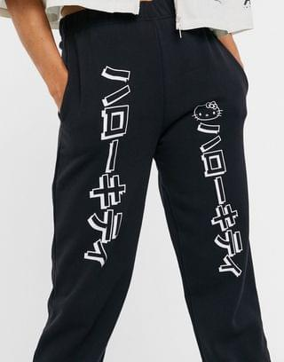 WOMEN New Girl Order x Hello Kitty relaxed sweatpants with contrast graphics two-piece