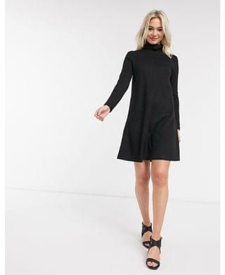 WOMEN JDY mini dress with high neck in black