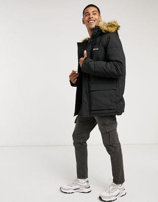 Nicce radian padded jacket with faux fur hood