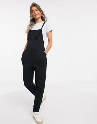 WOMEN jersey overall in black
