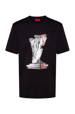 MEN Relaxed-fit cotton-jersey T-shirt with new-season artwork