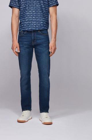 MEN Slim-fit jeans in indigo super-stretch denim