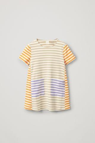 KIDSS STRIPED ORGANIC COTTON DRESS