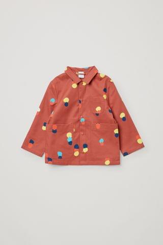 KIDSS ORGANIC COTTON PRINTED OVERSHIRT