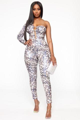 WOMEN Sneaky Games Snake Jumpsuit - Blue/combo