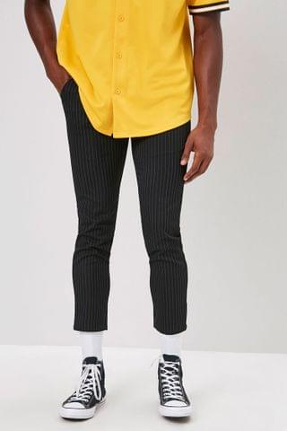 MEN Striped Slim-Fit Ankle Trousers