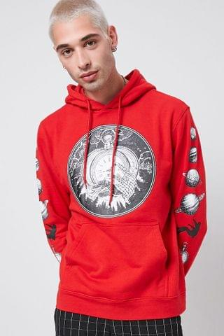 MEN Space Time Graphic Hoodie